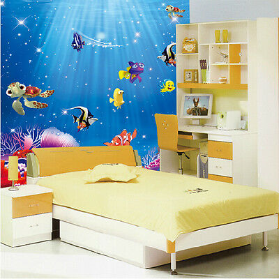 Ocean Sea Fish Vinyl Removable Mural Wall Sticker Kids Room Bathroom DIY Decor