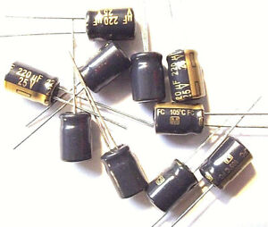 Panasonic Low ESR Capacitor EEUFM 1e222l 2200uf 25v 12,5x35mm rm5 #bp 4 PCs
