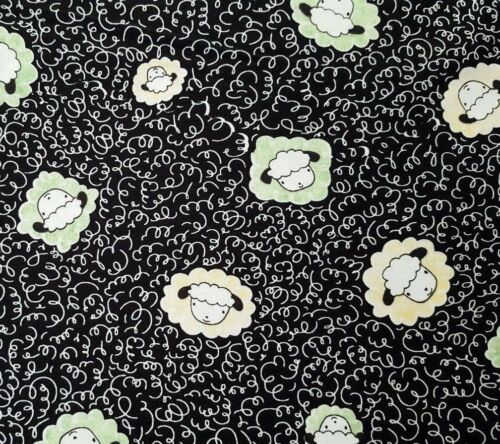 Sheeps /& Peeps Quilting Treasures BTY Sheep Heads Toss Green Yellow Black