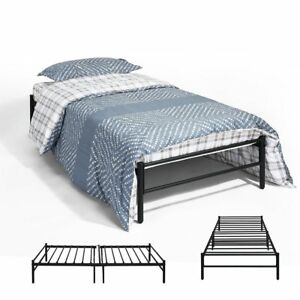 Eggree 3ft Single Day Bed Trundle Bed Scrub Metal Guest Bed Frame