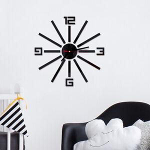 Am-3D-Acrylic-Mirror-Effect-Wall-Clock-DIY-Sticker-Decal-Home-Room-Decor-Mystic