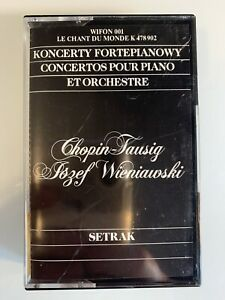 Chopin-Wieniawski-Concertos-Setrak-Cassette