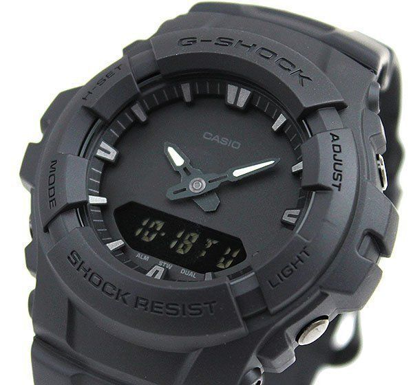 Casio G-Shock Mens Watch G100BB-1A G-100BB-1ADR Digital-Analogue Black Free Post