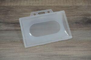 2-100-Stueck-Ausweishuelle-Kartenhuelle-Ausweishalter-Hart-PVC