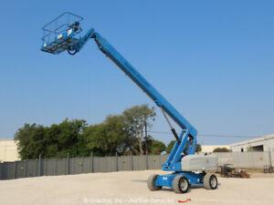 2013 Genie S-85 85' 4WD Diesel Telescopic Boom Lift Man Aerial Platform bidadoo