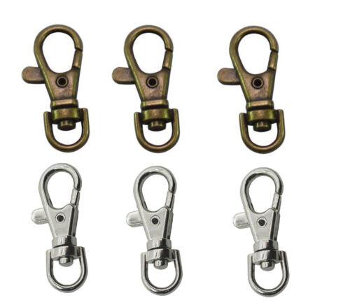 Brass Lobster Trigger Clasp Clip Clips Swivel Key Ring Snap Hook Craft Silver