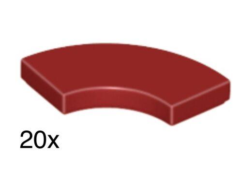 City//Star Wars 27925 LEGO 20 x Dark Red 2x2 Curved Macaroni Tile - Brand New