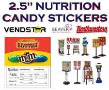New Listing25 X 25 Bulk Vending Label Candy Machine Sticker Gumball Mampm Peanut Butter