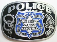 Belt Buckle Replacement Latch Protect Serve Badge Police Officer Usa Department