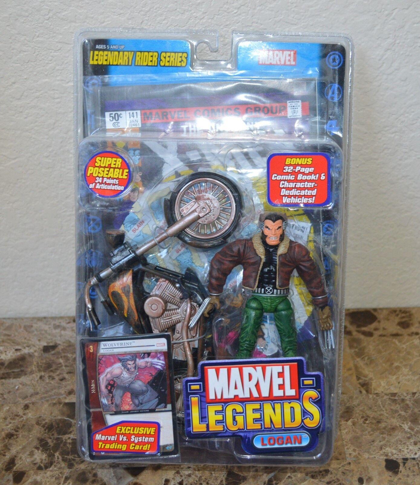 Marvel Leggende Logan Leggendario Rider Serie Action Figure Toybiz 2005