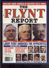 the Flynt Report  Vol 4 #1 Hustler political magazine rare Larry Flynt MBX80