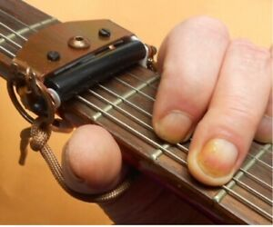 """Rolling Guitar Capo, """"Fastest in the World"""" - brown lacquer finish"""
