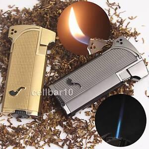 New-Jobon-Jet-Double-Flame-Cigarette-Cigar-Smoking-Pipe-Butane-Gas-Lighter