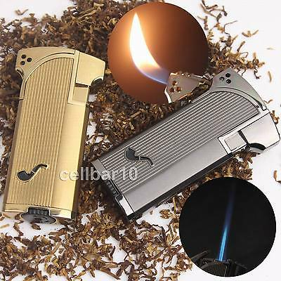 High Quality Jet Double Flame Cigarette Cigar Smoking Pipe Butane Gas Lighter