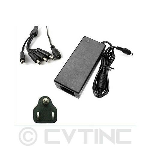 DC 12V 3Amp 60W Power Adapter 4-Split Power Cable for CCTV Security Camera