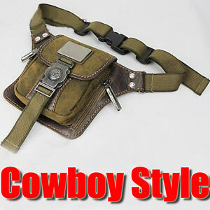 Vintage-Mens-Canvas-Bumbag-Hiking-Satchel-Shoulder-Fanny-Pack-Belt-Waist-Bags