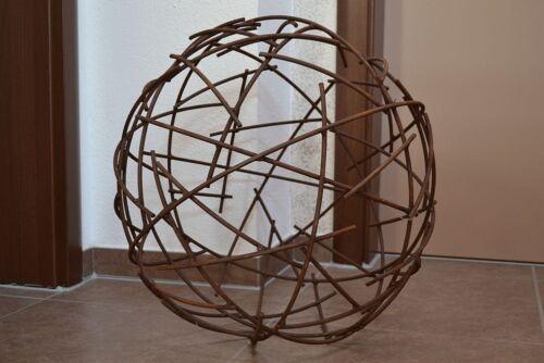 Decorazione Filo Sfera sfera metallo ruggine elegante ruggine Giardino Primavera ruggine personaggio decorazione