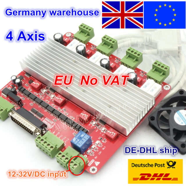 【EU Stock】 4 Axis TB6560 Stepper Motor Driver Controller Board 4V for CNC Router