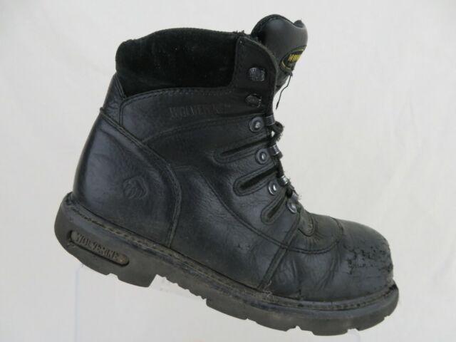 a0824f22447 WOLVERINE Iron Ridge Black Sz 9 M Men Steel-Toe Boots