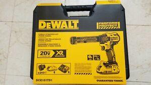 DEWALT-20V-MAX-20-volt-XR-DCE151TD1-CORDLESS-CABLE-STRIPPER-KIT-Brand-new
