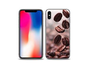 Apple-iPhone-X-Huelle-Foto-Case-Cover-Tasche-Silikon-Kaffeebohnen
