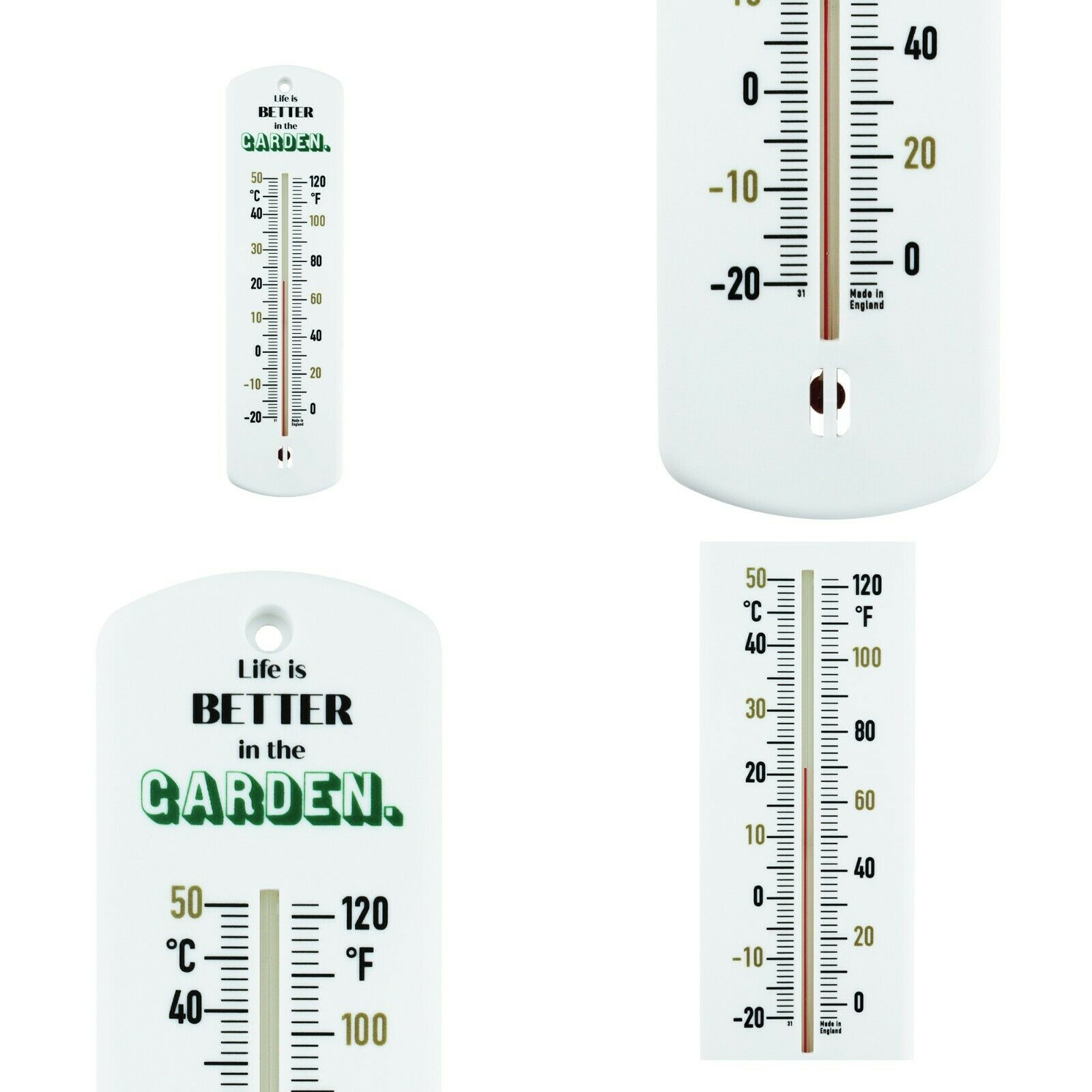 GARDEN THERMOMETER GREENHOUSE ALLOTMENT SHED OUTDOOR GIFT FOR GARDENERS IN-263