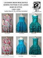 Ladies Robe De Style Dress, Hoop Slip 1920-1929 Laughing Moon Sewing Pattern 128