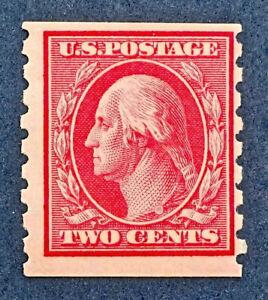 Scott US #393 - 1910-13 Coil, Washington; 2C; MNH, OG; FREE SHIPPING, CV=$105