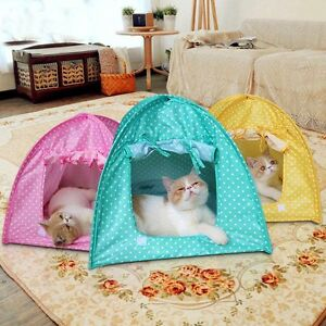 Foldable Folding Kennel Pet Kitten Tent Playpen House Cat Crate Sun Shelter Tent