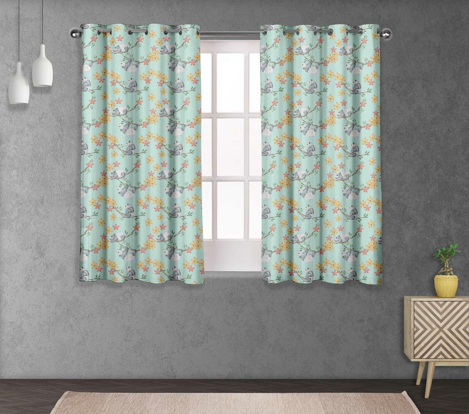 S 4 Sassy Bear & Cama divisores de habitación Panel de cortina corta y larga-FL-525G