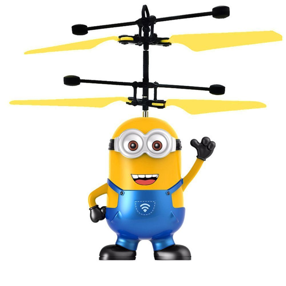 despicable me flying drone aircraft flying minion helicopter toys