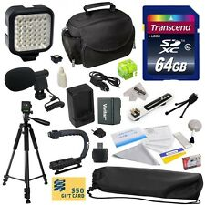 Advanced Accessories Kit for Canon VIXIA HF R52 HFR52 R50 HFR50 R500 HFR500