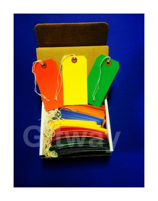 100 Tags 4 34 X 2 38 Size 5 Colored Inventory Hang Tag With