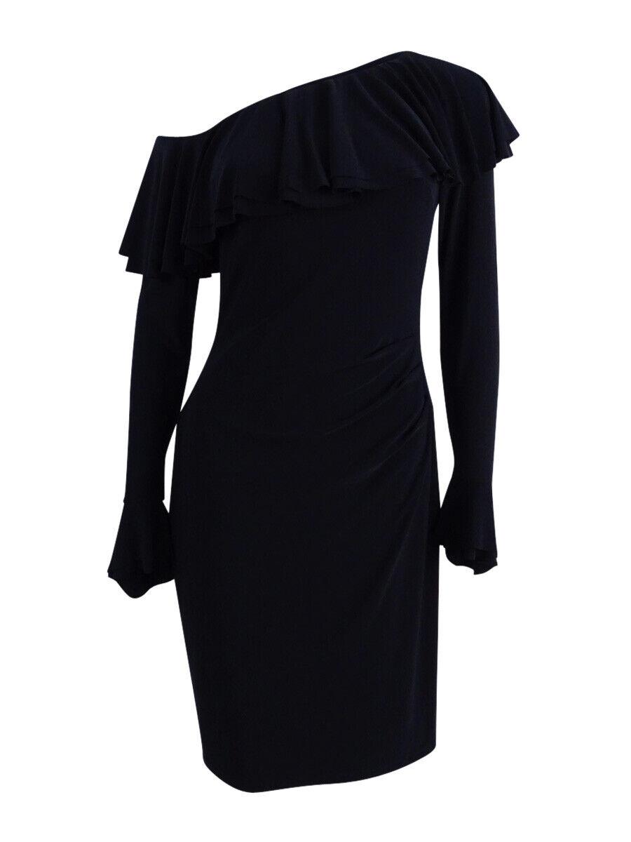 Lauren by Ralph Lauren Woherren One-Shoulder Ruffled Dress
