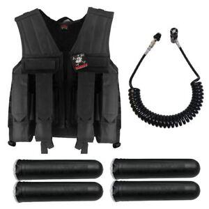 Maddog-Tactical-Battle-Vest-Pods-amp-Standard-Remote-Coil-Paintball-Package-Blk