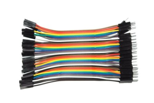 DuPont Hook up Cable wire Rainbow Ribbon of 40//10 Wires Male Male Female Female