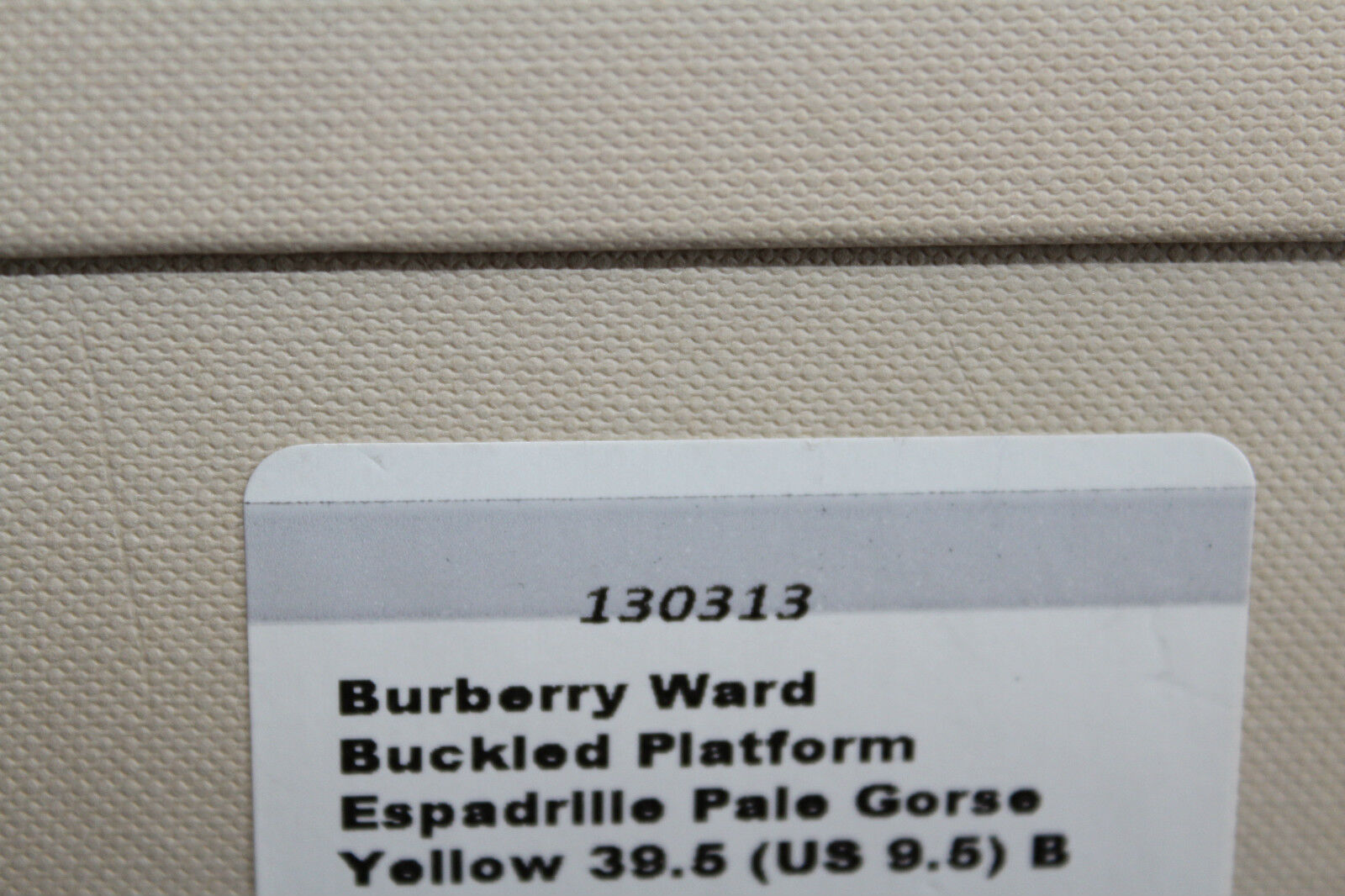 BURBERRY WARD BUCKED PLATFORM PLATFORM PLATFORM ESPADRILLE YELLOW  9.5us  425 b32ce7