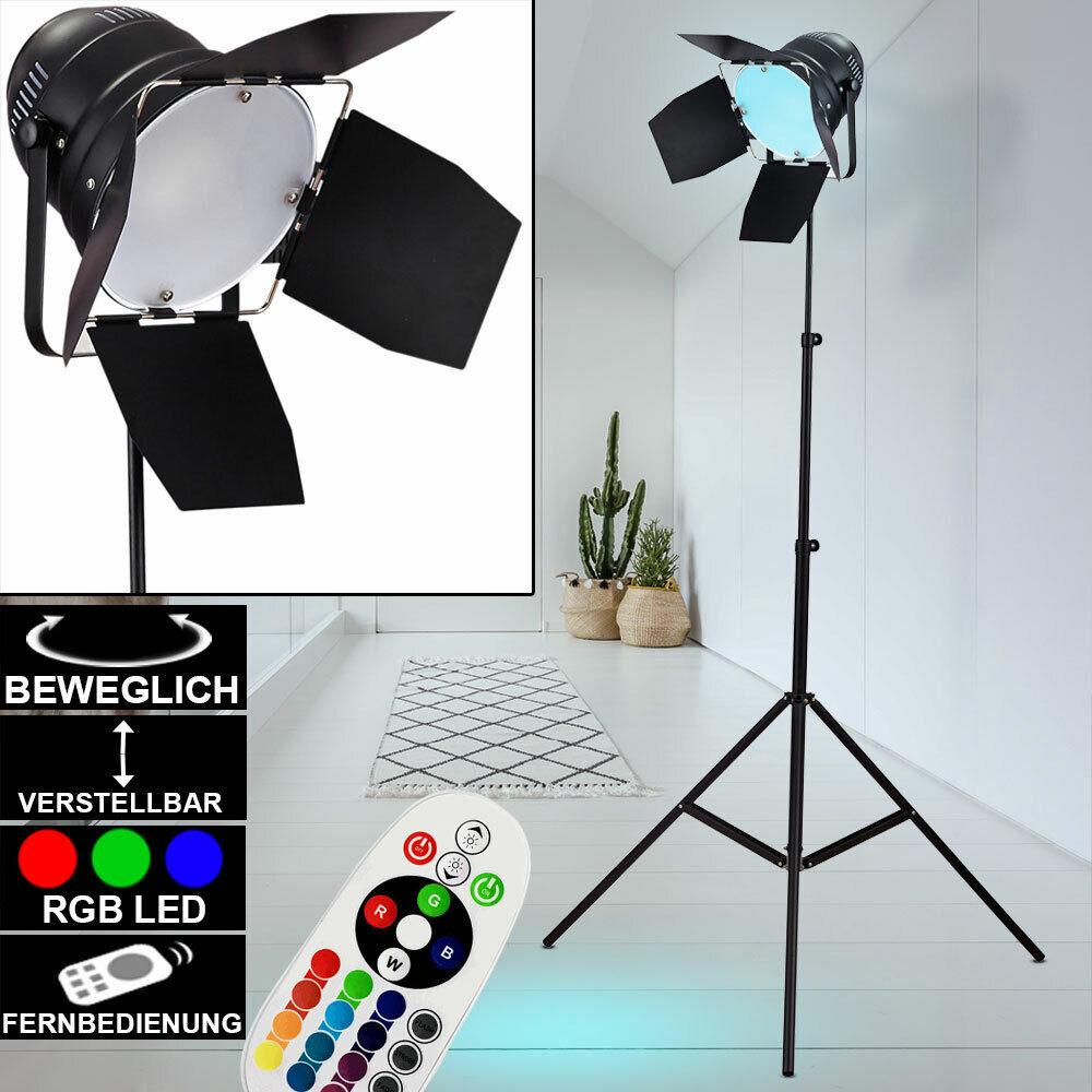 Lampe trépied sur pied RVB LED Dimmable lampe spot studio télécommande réglable