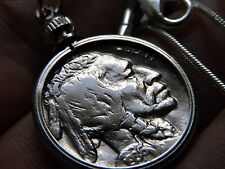 Vintage Handcrafted Artisan Necklace Vintage  Buffalo Indian Nickel coin mg
