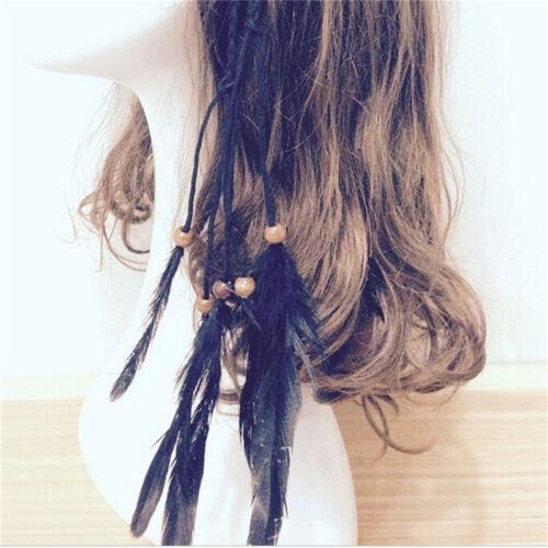 Hippie Indianer Feder Stirnband Handmade Weave Federn Haar Seil Kopfschmuck  HH