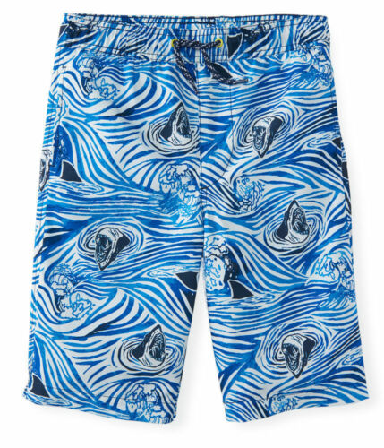 NWT PS Aeropostale Boys Size 12 14 Kids/' Drawstring Shark Tank Board Shorts NEW