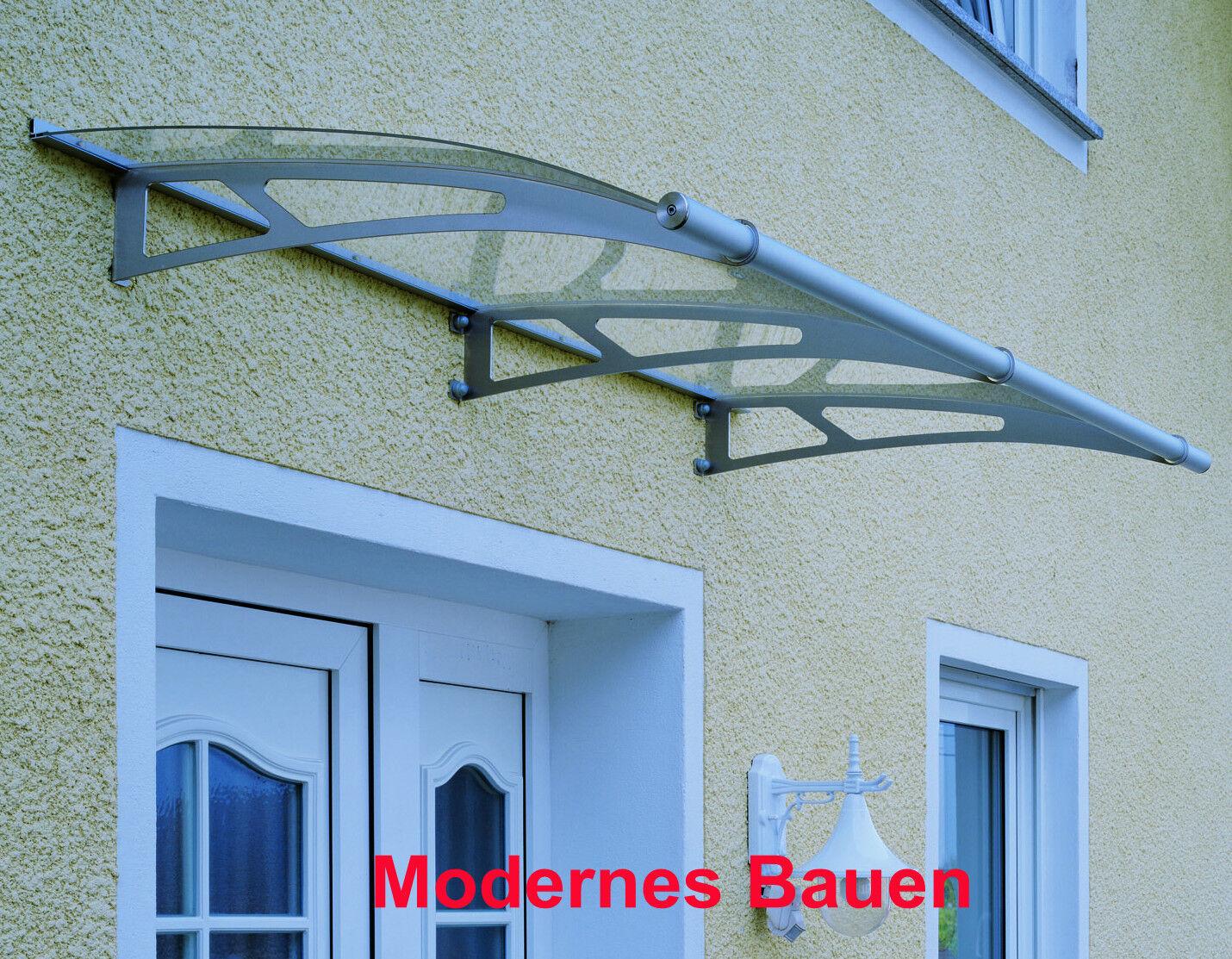 Schulte LT-LINE Vordach Pultvordach Breite 200 cm Edelstahl oder Stahl weiß