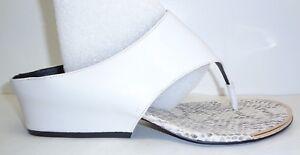 cd2b198cdc26 Calvin Klein Size 7.5 M CIARA White Leather Wedge Heels Sandals New ...