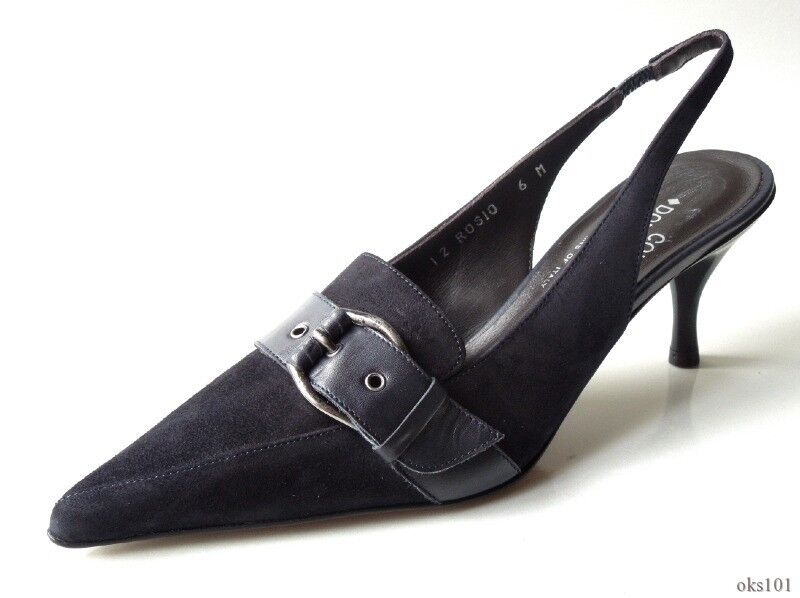 New DONALD J PLINER 'Rosio' navy bluee suede classic shoes  - very pretty