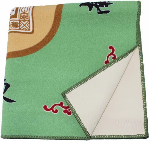 """31/"""" Green Slip Slide Resistant Mahjong Card Domino Game Table cover Mat"""