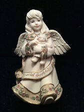 """NEW """"Special Godchild"""" Cast Resin Angel from Sarah's Angels"""