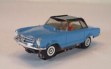 Slot Car Faller AMS Nr. 5651 Mercedes Benz 230 SL Coupe blau/schwarz Nr.1 #648