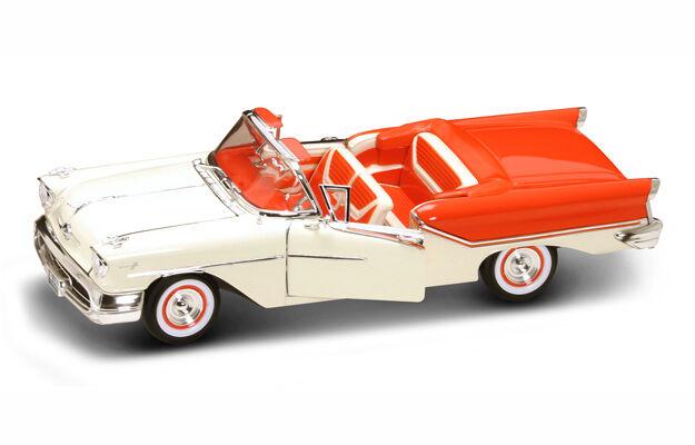 1957 1957 1957 Oldsmobile orange White 1 18 Road Legends YatMing 92758 25d362