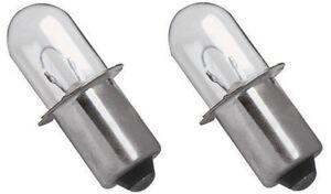 (2) Ryobi P704 Replacement Bulb 18 Volt Xenon
