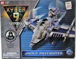 Ban-Dai-Xyber-9-New-Dawn-Jacks-Skyfighter-With-4-034-Jack-Figure-1999-Free-Shipping